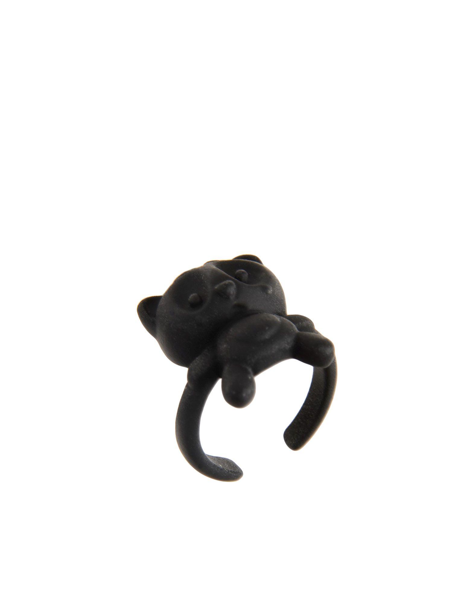 《送料無料》NICOPANDA レディース 指輪 鉛色 S プラスティック 100%