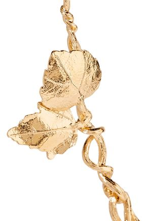AURÉLIE BIDERMANN 18-karat gold-plated necklace