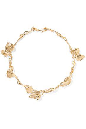 AURÉLIE BIDERMANN 18-karat gold-plated necklace