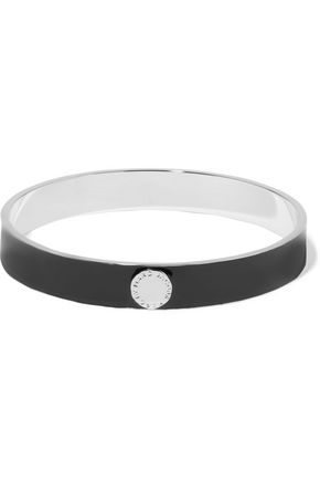 MARC BY MARC JACOBS Skinny silver-tone enamel bangle