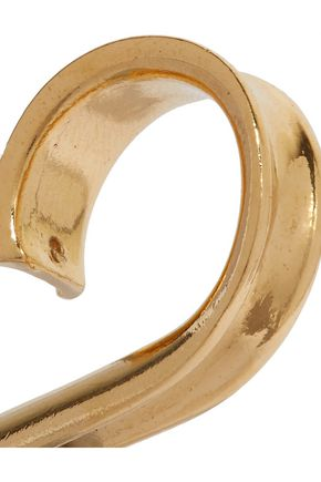 ANNELISE MICHELSON Ellipse gold-tone ring