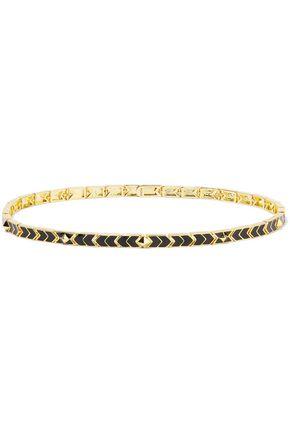 NOIR JEWELRY Gold-tone enamel necklice