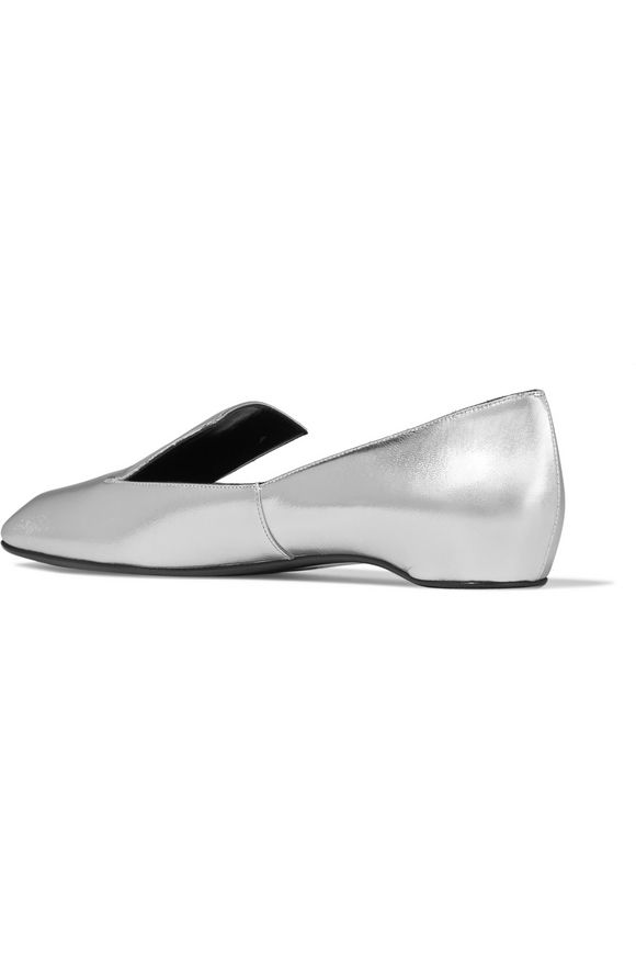 Polly metallic leather loafers | PIERRE HARDY | Sale up to 70% off | THE  OUTNET