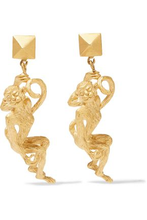 VALENTINO Gold-tone clip earrings