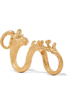 VALENTINO Goat gold-plated three-finger ring