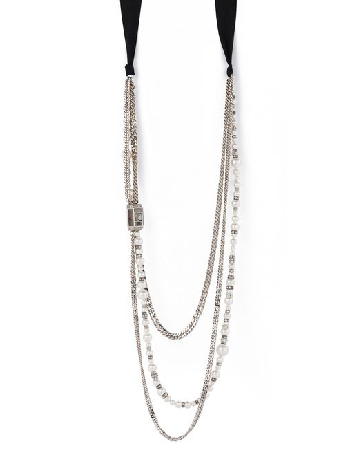 lanvin pearls necklace women