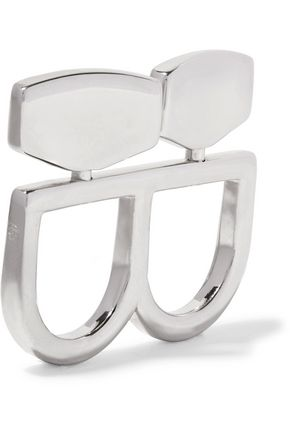 MM6 MAISON MARGIELA Two-finger silver-tone ring