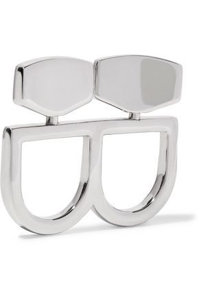 MM6 by MAISON MARGIELA Two-finger silver-tone ring