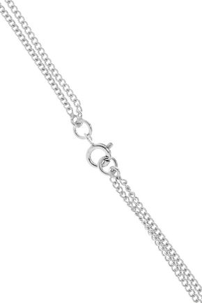 MAISON MARGIELA Convertible silver crystal necklace