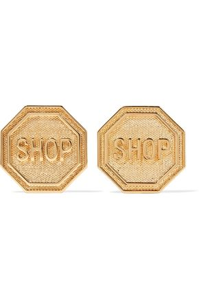 MOSCHINO Gold-tone earrings