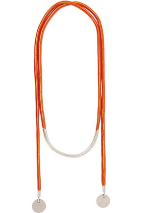 ISABEL MARANT Ross silver-plated rope necklace