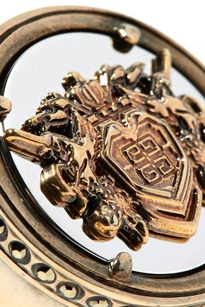 GIVENCHY Gold-tone crystal ring