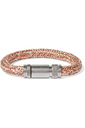 ACNE STUDIOS Jack braided cord and silver-tone bracelet