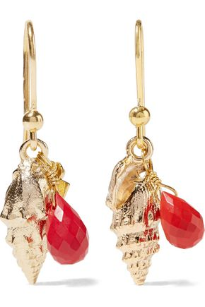 ROSANTICA Gold-tone beaded earrings