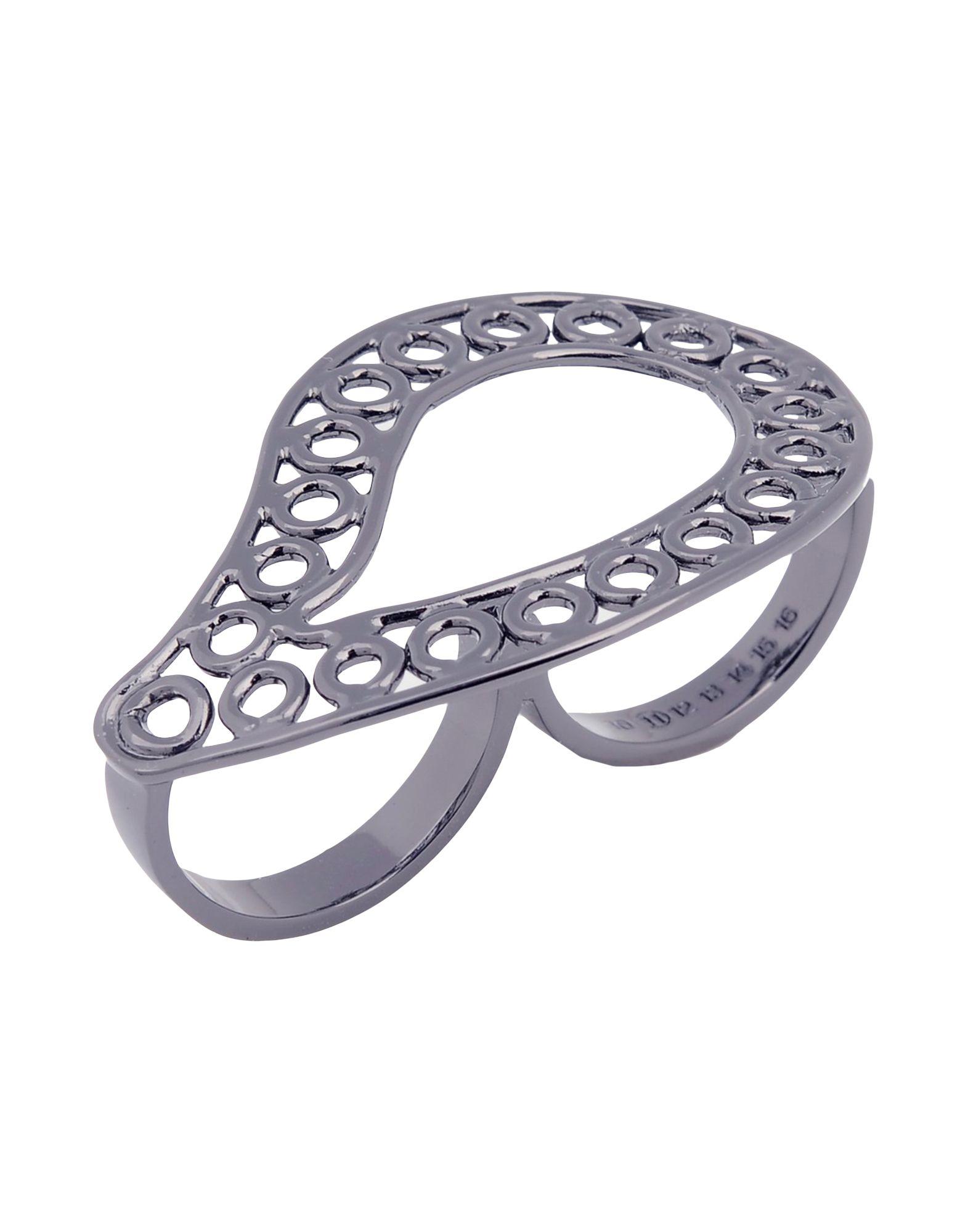 《セール開催中》MAISON MARGIELA レディース 指輪 スチールグレー L 真鍮/ブラス 100%