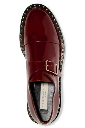 STELLA McCARTNEY Faux patent-leather brogues