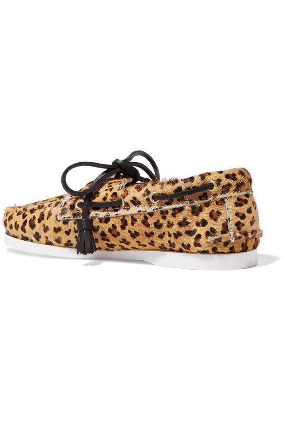 Harpsden leopard-print calf hair boat shoes | TOPSHOP UNIQUE | Sale up to 70%  off | THE OUTNET