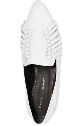 PROENZA SCHOULER Woven fringed leather point-toe flats