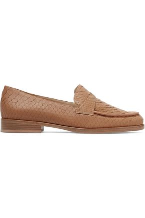 ALEXANDRE BIRMAN New Annie python loafers