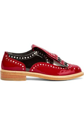 ROBERT CLERGERIE + Disney Royal laser-cut patent-leather brogues