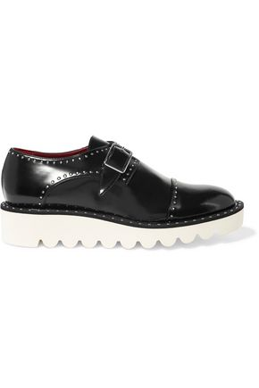 STELLA McCARTNEY Odette studded faux glossed-leather brogues