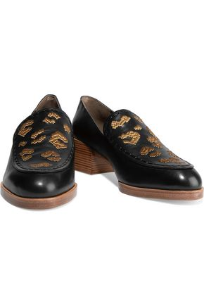 3.1 PHILLIP LIM Jasper embroidered leather loafers