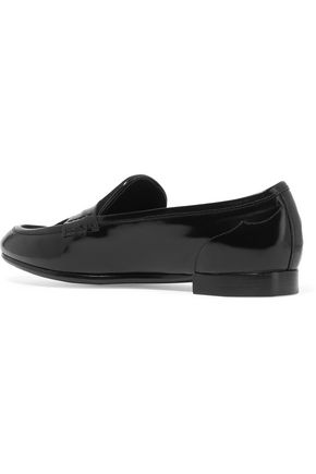 RAG & BONE Dina leather and nubuck loafers
