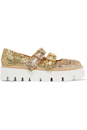 MM6 MAISON MARGIELA Glittered leather platform brogues