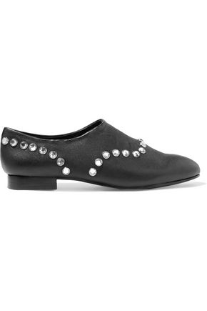 OPENING CEREMONY Charly crystal-embellished leather slippers