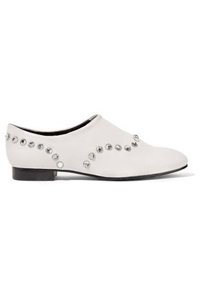 OPENING CEREMONY Charly crystal-embellished leather brogues