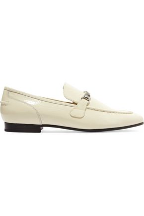 RAG & BONE Cooper chain-trimmed patent-leather loafers