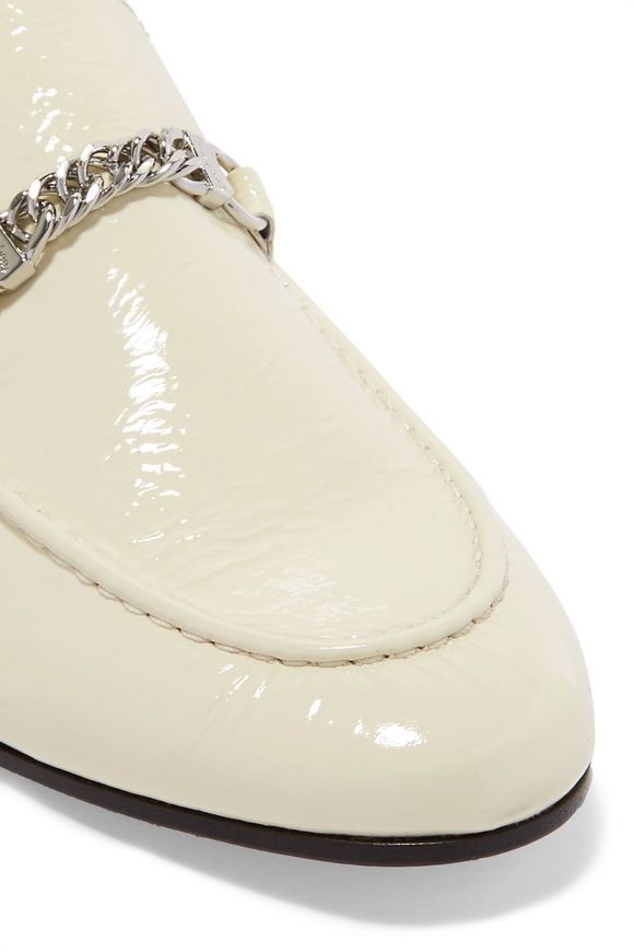5bf403bf15 Cooper chain-trimmed patent-leather loafers | RAG & BONE | Sale up ...