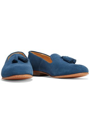 DIEPPA RESTREPO Gaston tasseled nubuck loafers