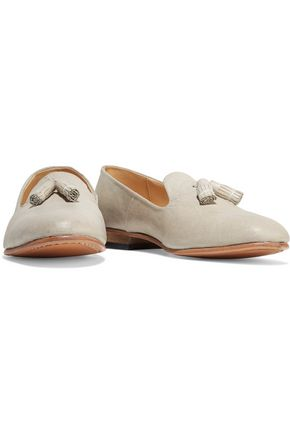 DIEPPA RESTREPO Gaston tasseled textured-leather loafers
