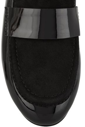 NEWBARK Claude suede and patent-leather loafers