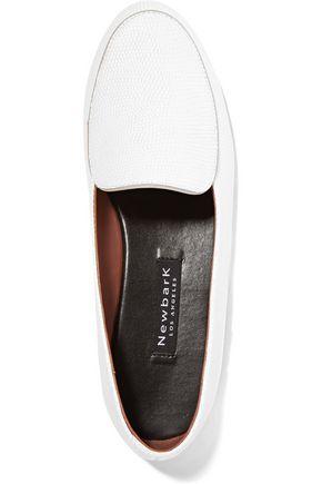 NEWBARK Liza two-tone leather loafers
