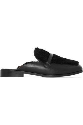 NEWBARK Melanie shearling and leather slippers