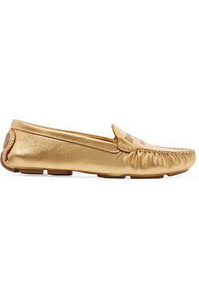 TORY BURCH Maynard metallic leather loafers