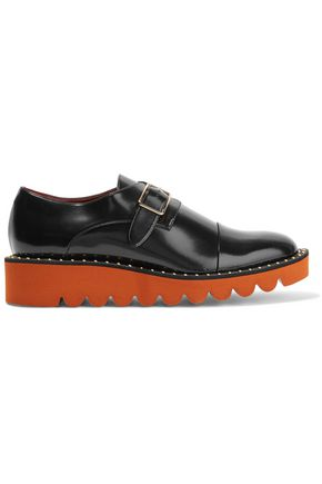 STELLA McCARTNEY Buckled patent-leather brogues