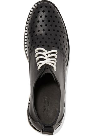 RAG & BONE Milo laser-cut and smooth leather brogues