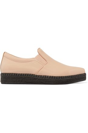DKNY Trey patent-leather espadrilles