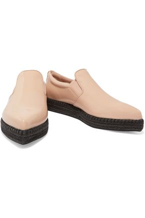 DKNY Trey patent-leather espadrilles