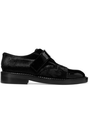 MARNI Calf hair and patent-leather brogues