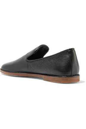 VINCE. Percell textured-leather loafers