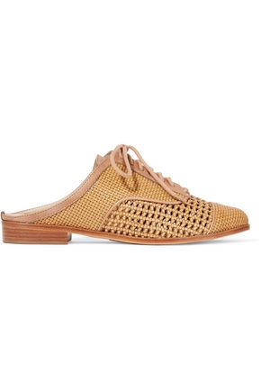 SCHUTZ Dracena woven leather slippers