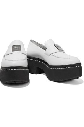 OPENING CEREMONY Agnes two-tone platform leather loafers