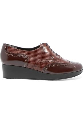 ROBERT CLERGERIE Textured-leather brogues