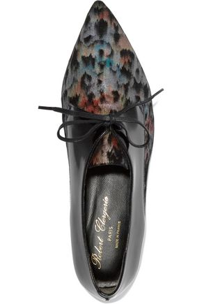 ROBERT CLERGERIE Metallic paneled leather brogues