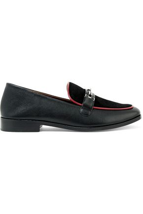 NEWBARK Melanie snake-effect leather loafers
