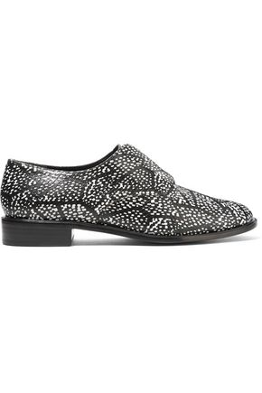 ROBERT CLERGERIE Jamk snake-effect textured-leather brogues